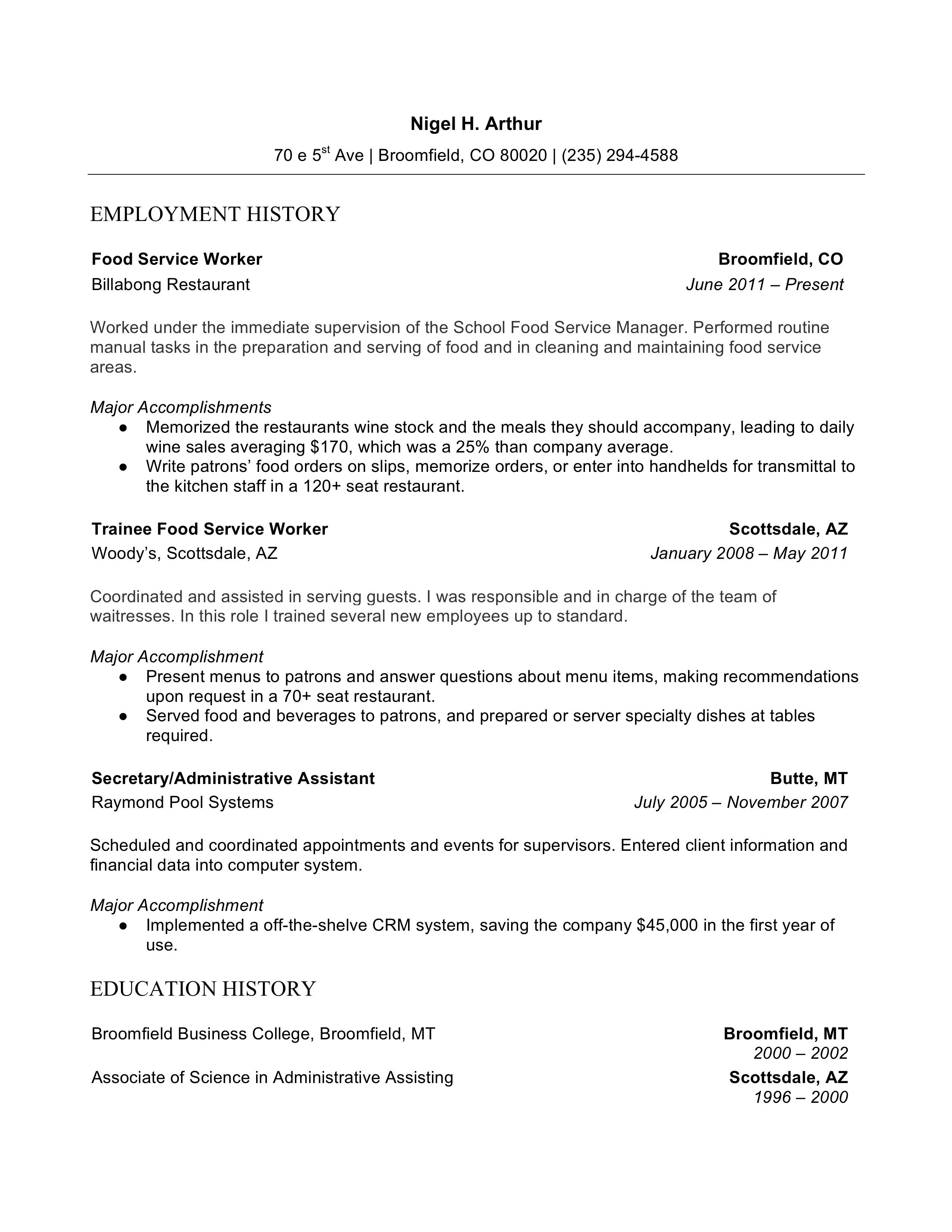 resume templates  2019