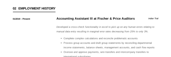 Accounting Assistant Resume Writing Guide