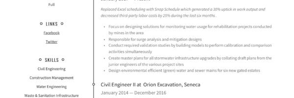 Civil Engineer Resume Writing Guide 12 Resume Templates