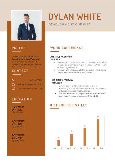 orange resume pdf
