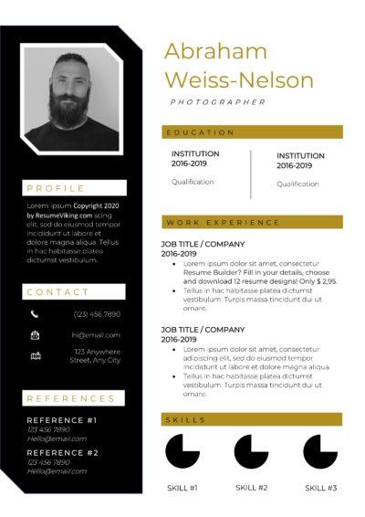 oker and black resume