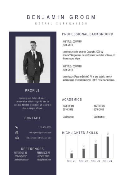 modern executive resume