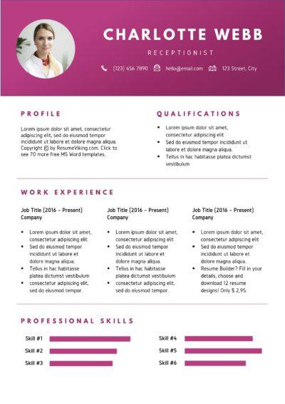 creative design resume
