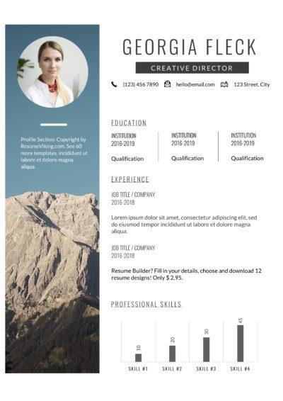 modern pdf creative resume