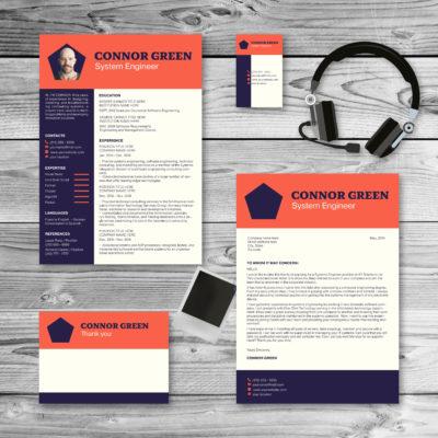 tomato purple colored resume and cover letter