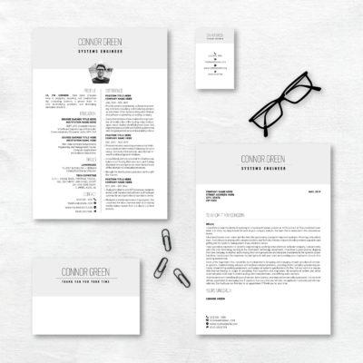 creative resume grey