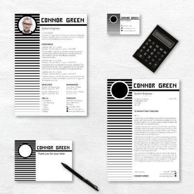 black and white creative resume